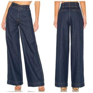 NWOT Free people big bell jeans in dark indigo